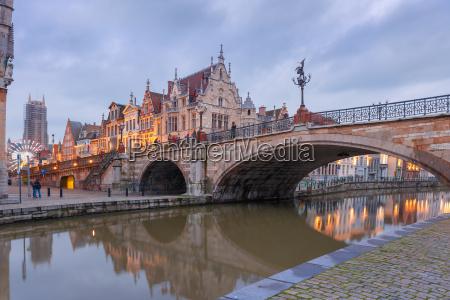 st michael bridge in ghent belgium