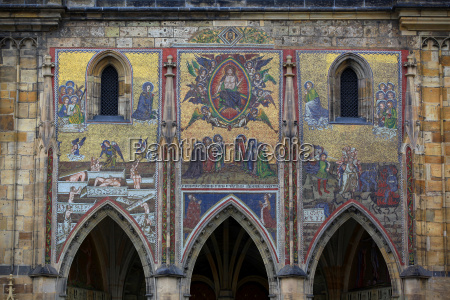 mosaic at the side entrance of
