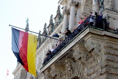 stimmungsbilder ankunft der deutschen olympioniken am