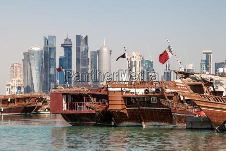doha skyline der stadt katar