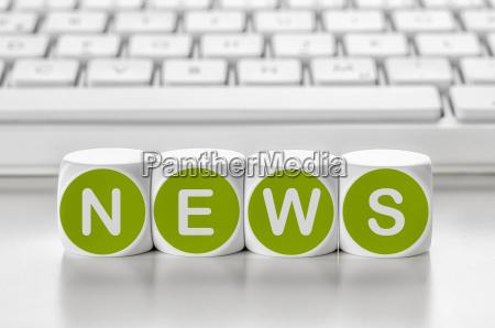 buchstabenwuerfel vor einer tastatur news