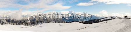 winter mountain landscape in the french