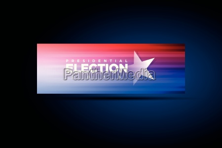 vector banner for presidential election