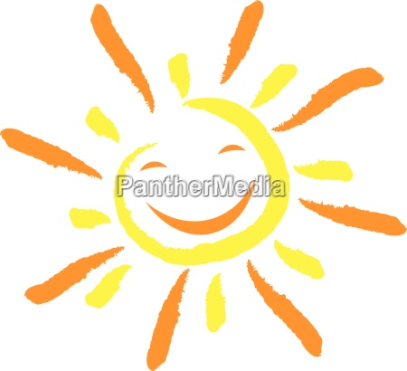 sun and smile face laughter