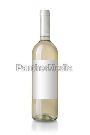 weisswein flasche mit etikett