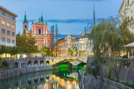 romantic medieval ljubljana slovenia europe