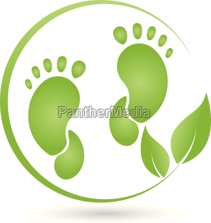 two feet and leaves logo foot