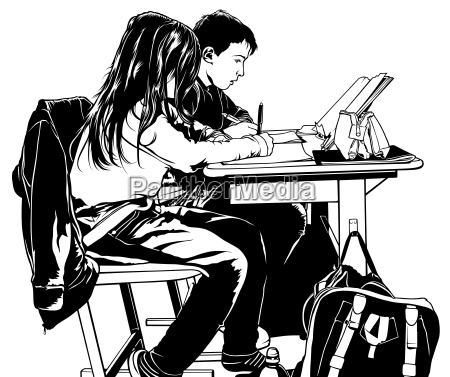 schule fuer kinder in klassenzimmer