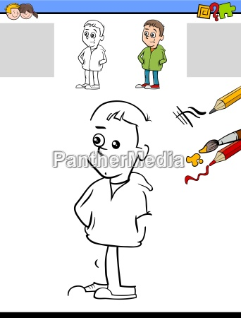 drawing and coloring activity