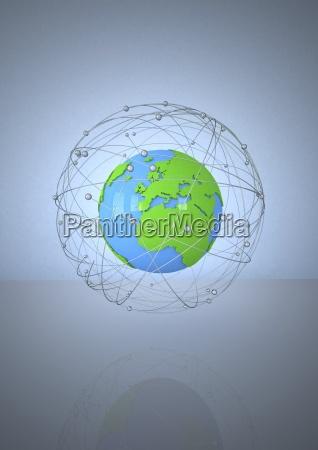 illustration globe network