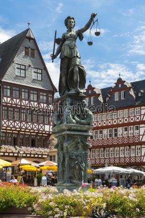 deutschland hessen frankfurt am main roemerberg