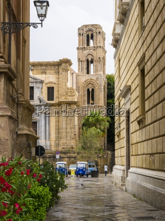 italy sicily palermo piazza bellini church
