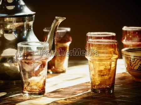 morocco casablanca tea pot and tea