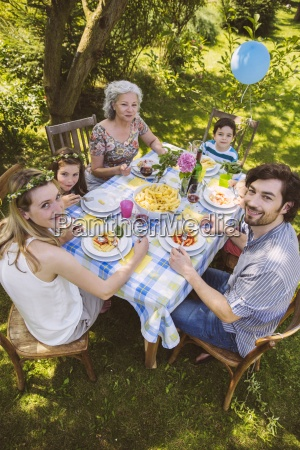 family of three generations at a