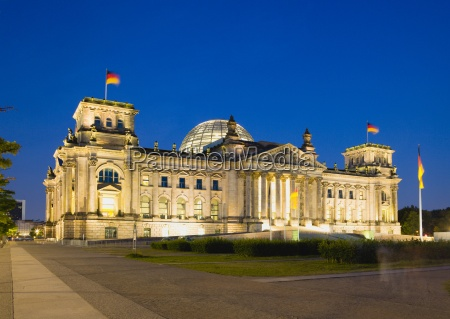 germany berlin reichstag building illuminated at