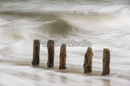 germany schleswig holstein sylt breakwaters and