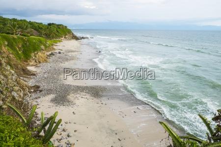 mexico pacific coast beach at la