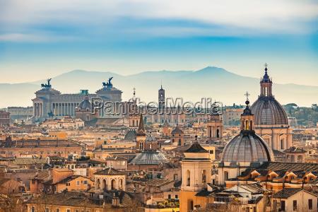 luftbild auf rom italien