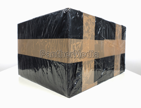 black packet parcel