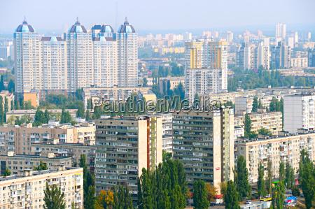 kiev left bank skyline ukraine