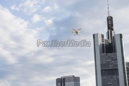 germany hesse frankfurt flying drone