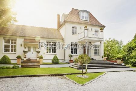 germany hesse frankfurt view of villa