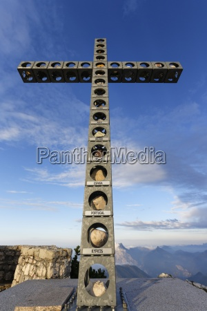 austria upper austria salzkammergut summit cross