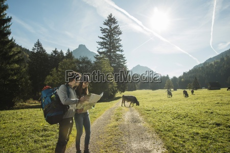 austria tyrol tannheimer tal two young