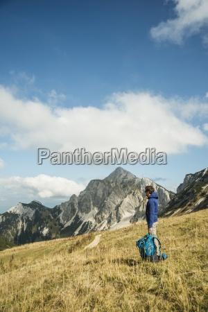 austria tyrol tannheimer tal hiker with