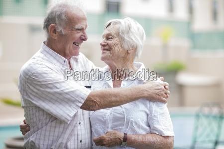 happy senior couple in a retirement