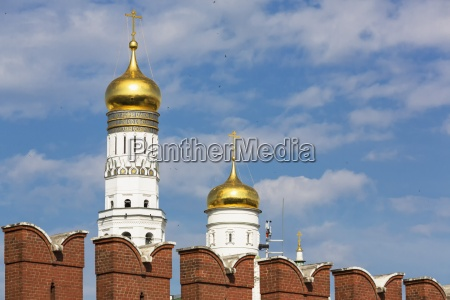 russia moscow kremlin wall and ivan