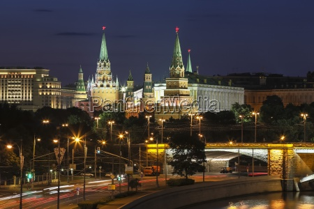russia moscow view of the kremlin