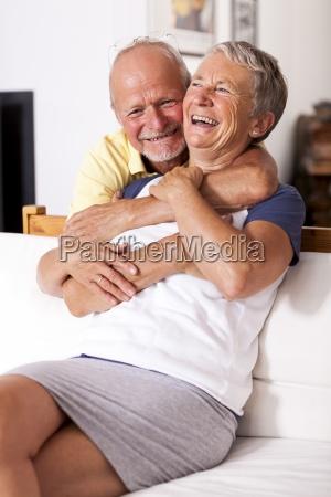 portrait of happy senior couple together