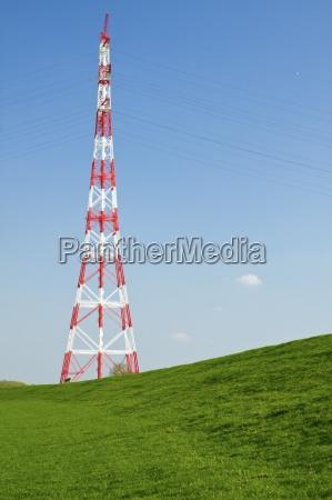 germany schleswig holstein hetlingen electricity pylon