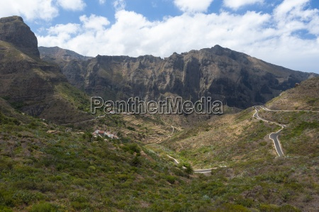 spain canary islands tenerife mountains on