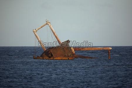 dominican republic caribbean sea silverbanks ship