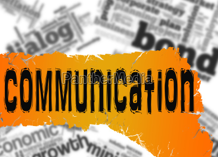word cloud with communication word on