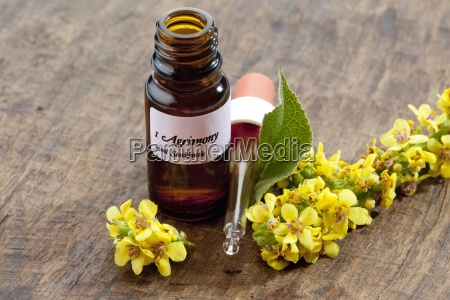 flask with essence of agrimony and