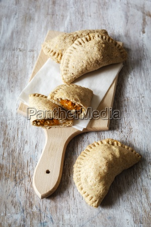 stuffed pastry of wholemeal dough filled