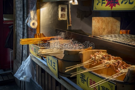 china shanghai barbecued seafood on a
