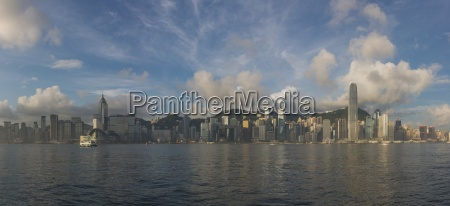 china hong kong skyline panorama