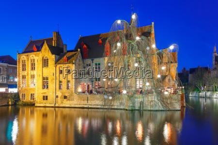 medieval town and tower belfort bruges