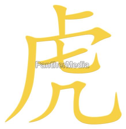 chinesisches schriftzeichen fuer tiger
