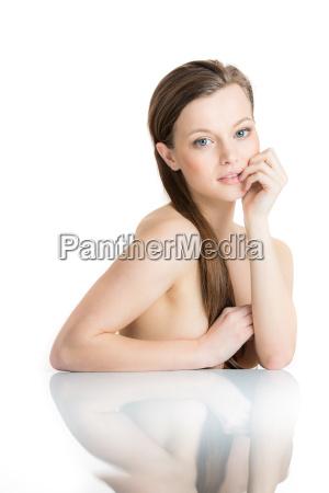 skin care concept pretty young