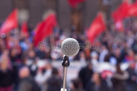 oeffentliche demonstration protest