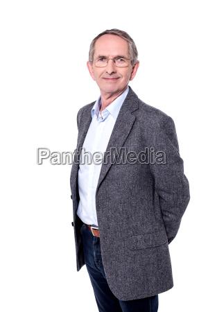 picture of handsome senior man