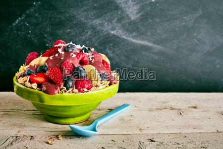giant bowl of cereal and fruit