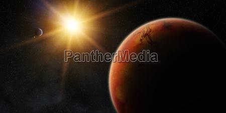 ansicht des planeten mars