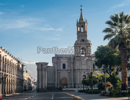 early morning in the city arequipa