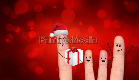 gluecklicher finger paar in der liebe